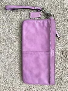COACH Leather Clutch (Colour: Lavendar)