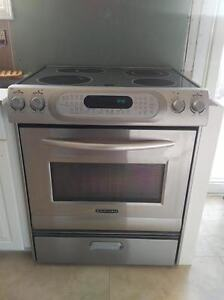 Kitchen Aid Stove Range Oven Cook Top Stainless Steel