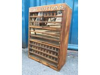 1930s/1940s Shop Display Cabinet/Case. Antique/Haberdashery/Vintage