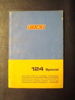 FIAT 124 SPECIAL BODYWORK SPARES CATALOGUE 1st EDITION  ref: 603.10.185 1968