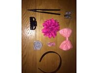 Various hair accessories(Headband and Hair clips)