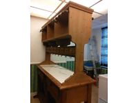 Kitchen Island Dresser with a solid marble base. All the drawers open both sides