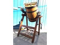 Early 20th Century Antique Butter Churn, Oak, Iron & Brass. Quirky/Interiors