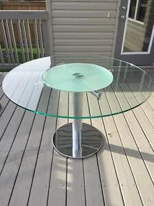 Glass top Table with lazy susan