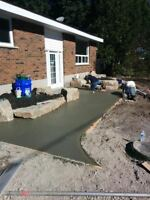 concrete placement, finishing, cutting, forming