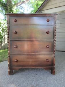 "VINTAGE WALNUT TALLBOY ""YOUR REFINISHING PROJECT"""