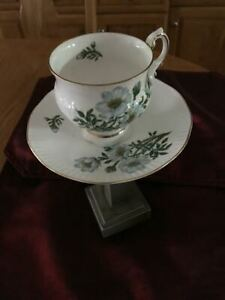 NWT PROVINCIAL FLOWER DEPICTED ON A BONE CHINA CUP AND SAUCER