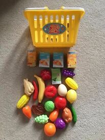 Shopping Basket and Food