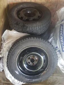 """Set of winter tires on 15"""" rims"""