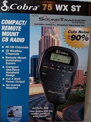 Cobra 75 WX ST 40 CB Channel Compact/ Remote Mount CB Radio Peaked and Tuned ()