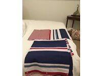 Navy, Red & White Double Duvet Set