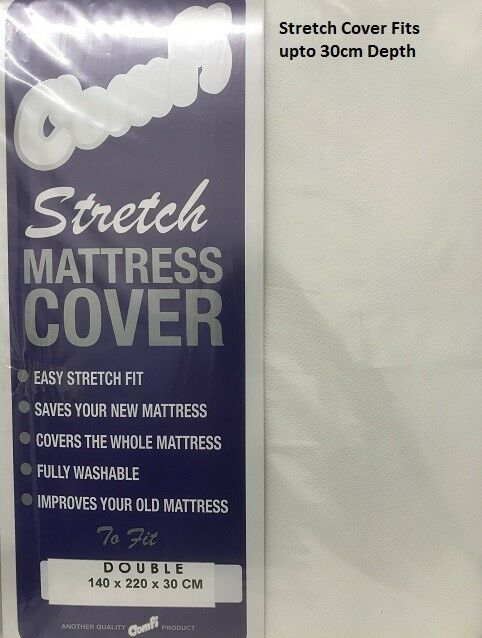 King Zipped Stretch Mattress Cover in 3 Colours