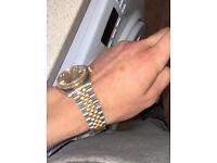 Gents Rolex datejust 18k gold bi metal