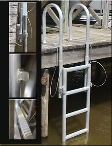 5 STEP ALUMINUM LIFT/RETRACTABLE BOAT DOCK LADDER