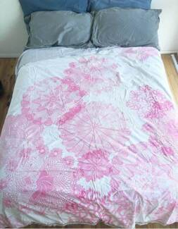 reversible queen size doona/quilt cover
