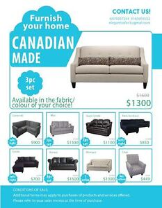 Everything is Brand New!All Canadian Made Sofas Ready to Go!