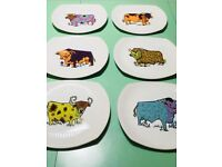Vintage retro beefeater plates