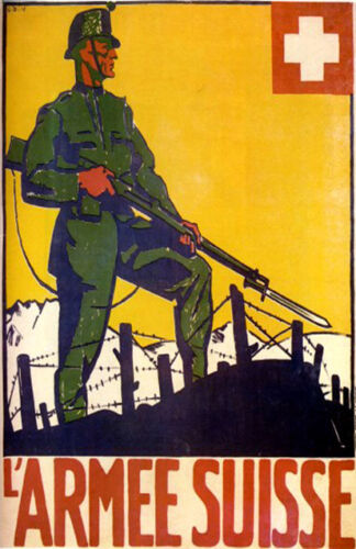 Nice SWISS Military Poster WW 1