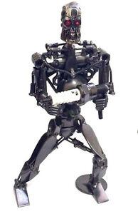 Collectible Metal Terminator Robot  Art Sculpture Decor Figurine 8 inch Tall