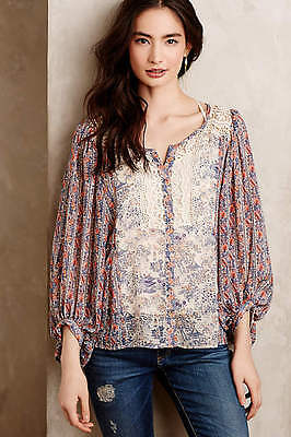Nwt Anthropologie Chinoiserie Peasant Blouse By Hd In Paris  Size 4