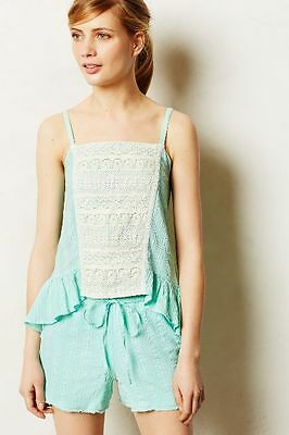 36393e0fb39e8 ANTHROPOLOGIE Eloise Fenella Lace Gauzy Cami Tank Shirt NwT Medium