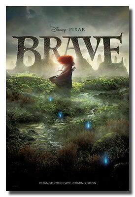 "Brave New Rare Original Movie Animation Cartoon Ads 24x36"" Poster Canvas Print on Rummage"