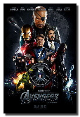 "The Avengers New Mint Rare Original Movie Sign Ads 24x36"" Poster Canvas Print on Rummage"