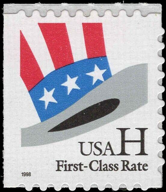 Scott # 3269 - H & Hat - Single Stamp - MNH - 1998