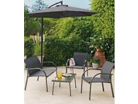 4 Seater metal patio set with table