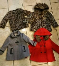 Bundle of girls coats