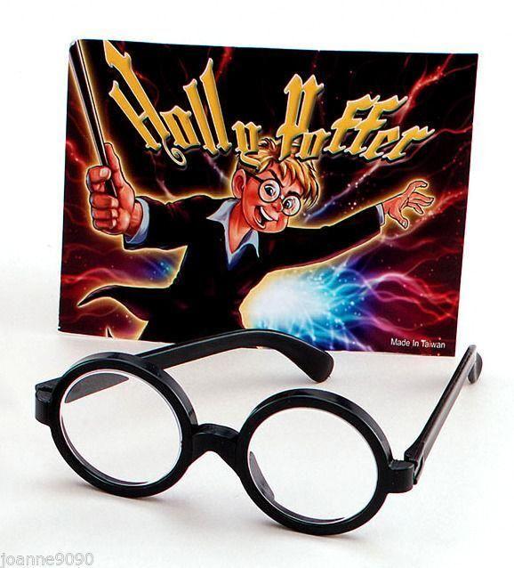 School Boy Nerd Wizard Black Geek Fancy Dress Costume Glasses Harry Potter Specs