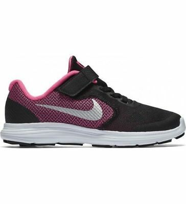 Nike Kinder Schuhe (Nike Air Revolution 3 GS PSV Kinderschuhe schwarz pink Klett )