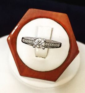 14K Gold Diamond Crafted Engagement Ring / Certified at $5,700
