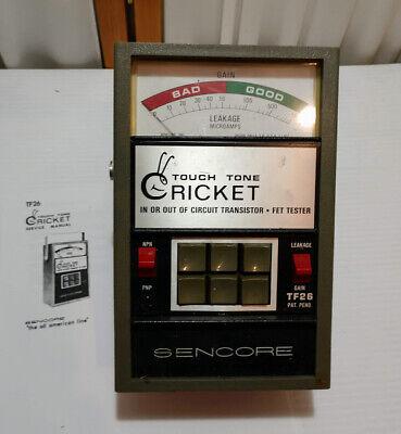 Sencore Tf26 Cricket Transistor Fet Tester