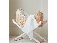 Peter rabbit snug Moses basket and Moses basket stand