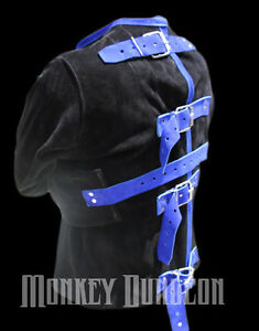 Suede-Leather-straight-Jacket-size-Large-Custom-colors-other-options-available