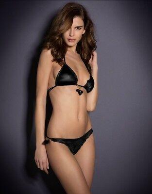 4c7460e429 Agent Provocateur Berry Black Bikini Bra Size AP 2   Brief Size AP 3 Set -  New
