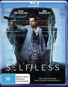 Self/Less (Blu-ray, 2015) New, ExRetail Stock (D130)