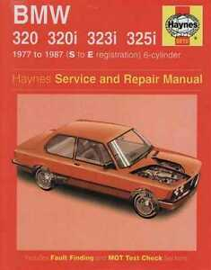 bmw 320 320i 323i and 325i 6 cylinder 1977 1987 workshop manual ebay. Black Bedroom Furniture Sets. Home Design Ideas