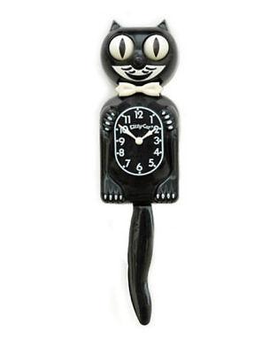 BLACK KITTY CAT CLOCK (3/4 Size) 12.75