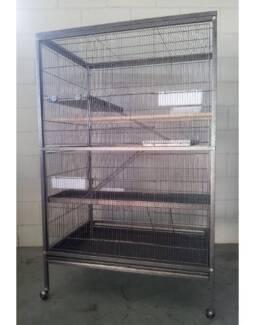 Deluxe 3 Level Bird Parrot Cat Kitten Ferret cage on wheels Ed07T