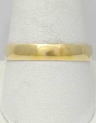 10k YELLOW GOLD HIGH POLISH PLAIN LIGHT WEIGHT WEDDING BAND RING -