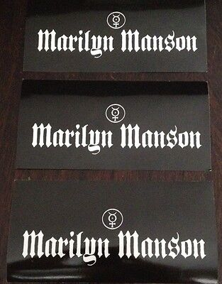 3 Marilyn Manson Holy Wood Stickers