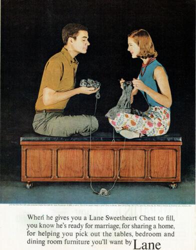 Lane Furniture Perception Sweetheart Chest Mid Century Modern 1961 Magazine Ad