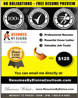✴ Professional Resume Writing Service: NO OBLIGATIONS!