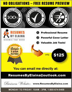 ✴ Professional Resume Writing Service: 5-STAR GOOGLE RATING!