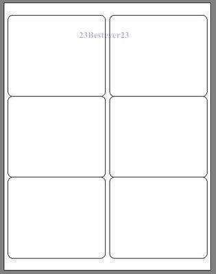 6 Blank 4 X 3 13 White Address Return Laser Mailing Labels 1 Sheet