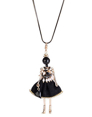 MARNI H&M Black Ballerina Girl Necklace
