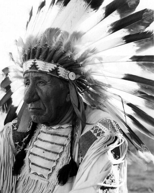 Native American Indian CHIEF WHITE CLOUD Glossy 8x10 Photo Lakota Sioux Print