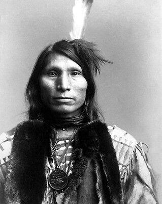 Native American Indian CHIEF GOOD EAGLE Glossy 8x10 Photo Cheyenne Print Poster